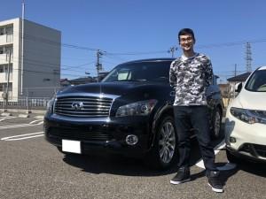 新潟県のU様に インフィニティ QX80をご納車させていただきました。
