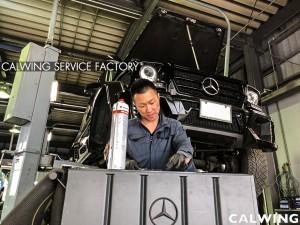 Gクラスの車検整備を行いました。WALDのホイールがカッコイイですね!!今回バッテリー、サブバッテリーの交換も行いました。バッテリーはVARTA。ベンツなど高級車に使用されているバッテ […]