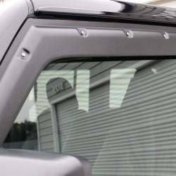 ジープ ラングラーJL アンリミテッド カリフォルニアマッドスター 50ミリワイドフェンダー/タフガード製ドアバイザー、バグガード装着 カスタム車両