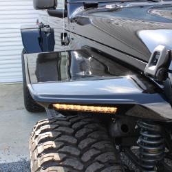 ジープ ラングラーJL アンリミテッド カリフォルニアマッドスター フラットワイドオーバーフェンダー シーケンシャルウインカー付属 TIS 544BM カスタム車両