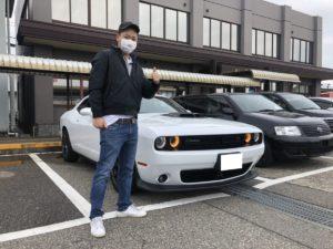 新潟県のK様に 新車ダッジ チャレンジャー スキャットパックシェイカーをご納車させていただきました!