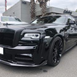 ロールスロイス ゴースト ラッピング マットブラック Rolls-Royce Ghost CarWrapping