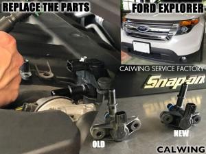エクスプローラー エンジンチェックランプ パージソレノイドバルブ交換 フォード 修理