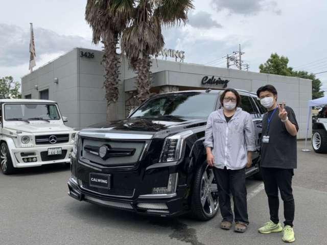 4台目のご購入有難うございます!東京都のY様に新車エスカレード ネクストネイションコンプリートをご納車させて頂きました!