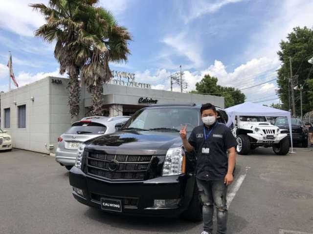2台目のご購入有り難うございます!埼玉県のI様のキャデラック エスカレードESVをご納車させていただきました!