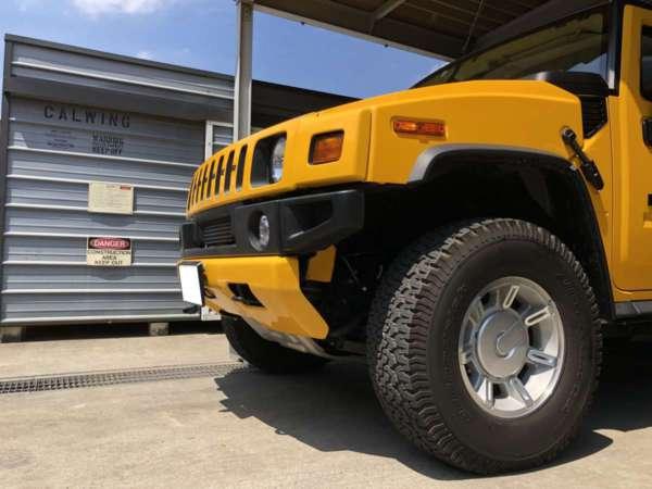 ハマーH2カスタム - 電動ステップ パワーランニングボード装着