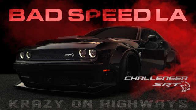 CALWING TVにBAD SPEED LAパーツでフルカスタムされたチャレンジャーの走行動画をアップしました!