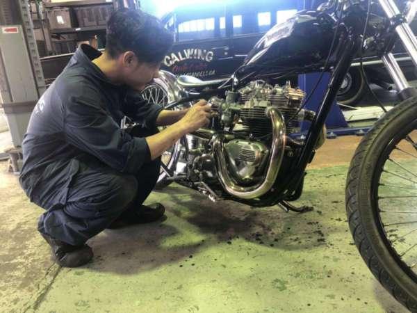 トライアンフ メンテナンス 点検 整備 バイク こんな事もやってます