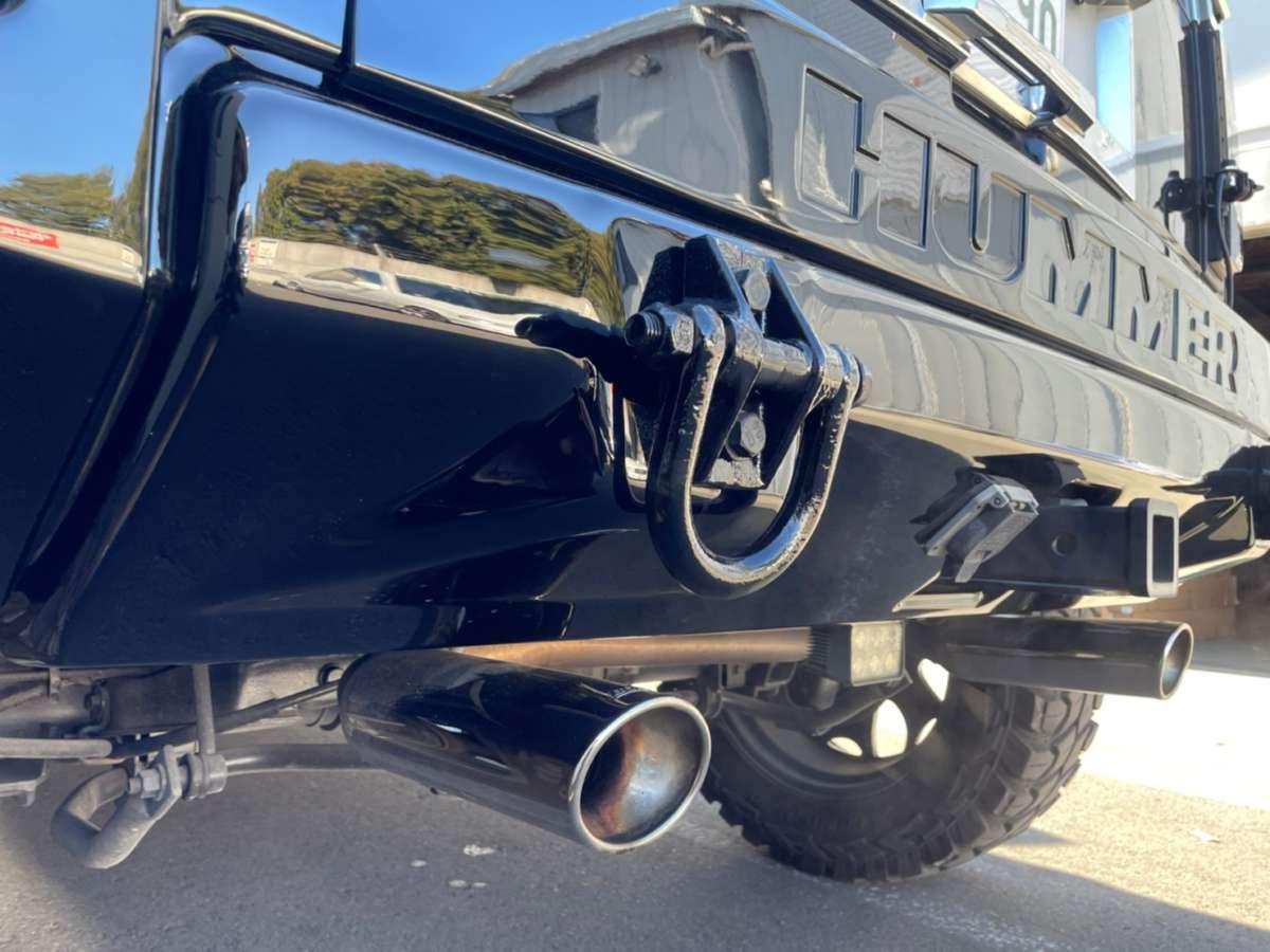 ハマー H2 リアバンパー 鈑金塗装 修理