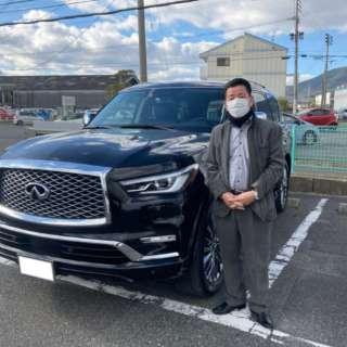 福岡県のO社長様に新車 インフィニティ QX80をご納車させて頂きました!