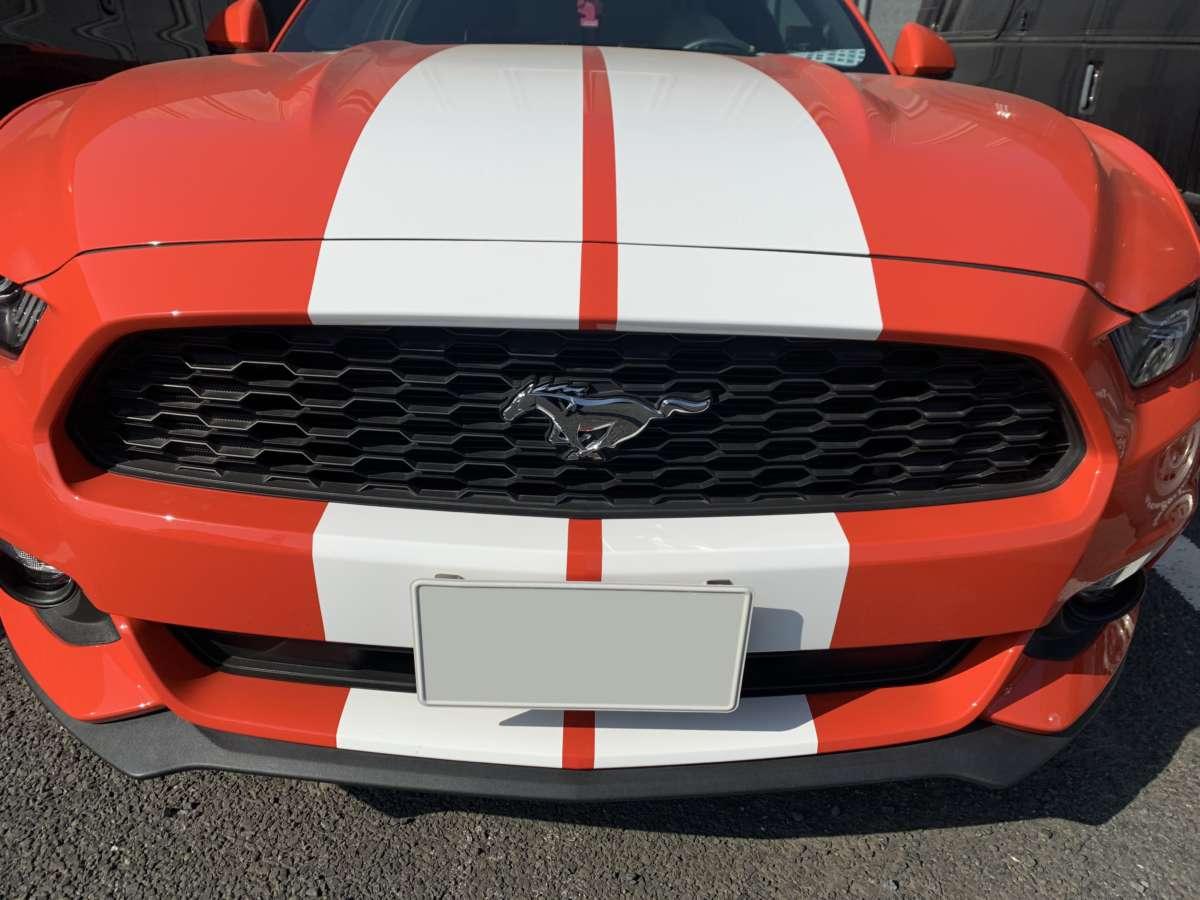 フォード マスタング レーシングストライプ 貼り替え!