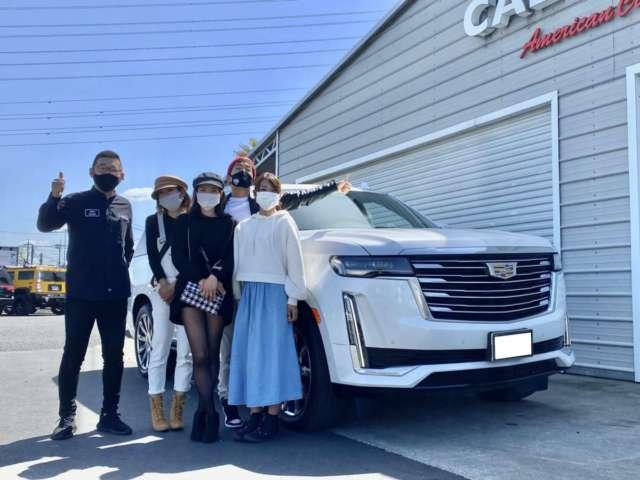 長野県の「オレの洗車」 W社長様に 新車 2021y キャデラック エスカレード ESV プレミアムラグジュアリープラチナムをご納車させて頂きました!