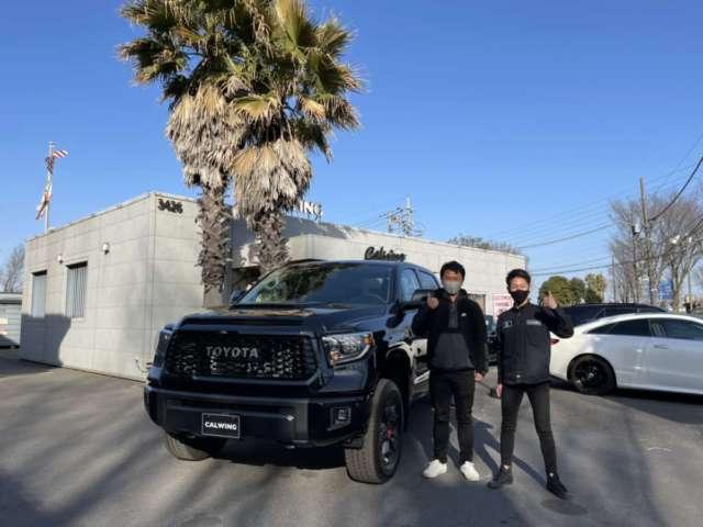千葉県のF様に 新車 USトヨタ タンドラ TRD PROをご納車させて頂きました!
