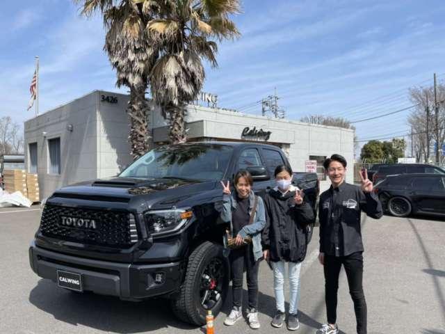 秋田県のS社長様に新車タンドラ TRD PROをご納車させて頂きました!