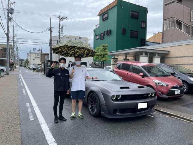 愛知県のM社長にダッジ チャレンジャー ヘルキャットをご納車させて頂きました!