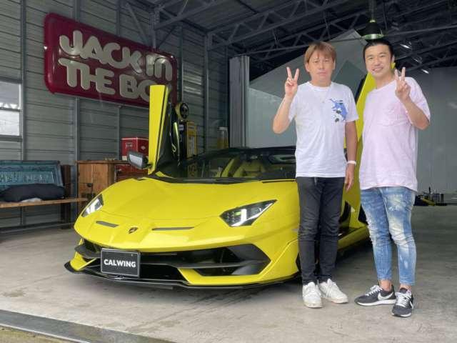 11台目のご購入有難うございます! 東京都のI社長に新車ランボルギーニ アヴェンタドールSVJロードスターをご納車させて頂きました!